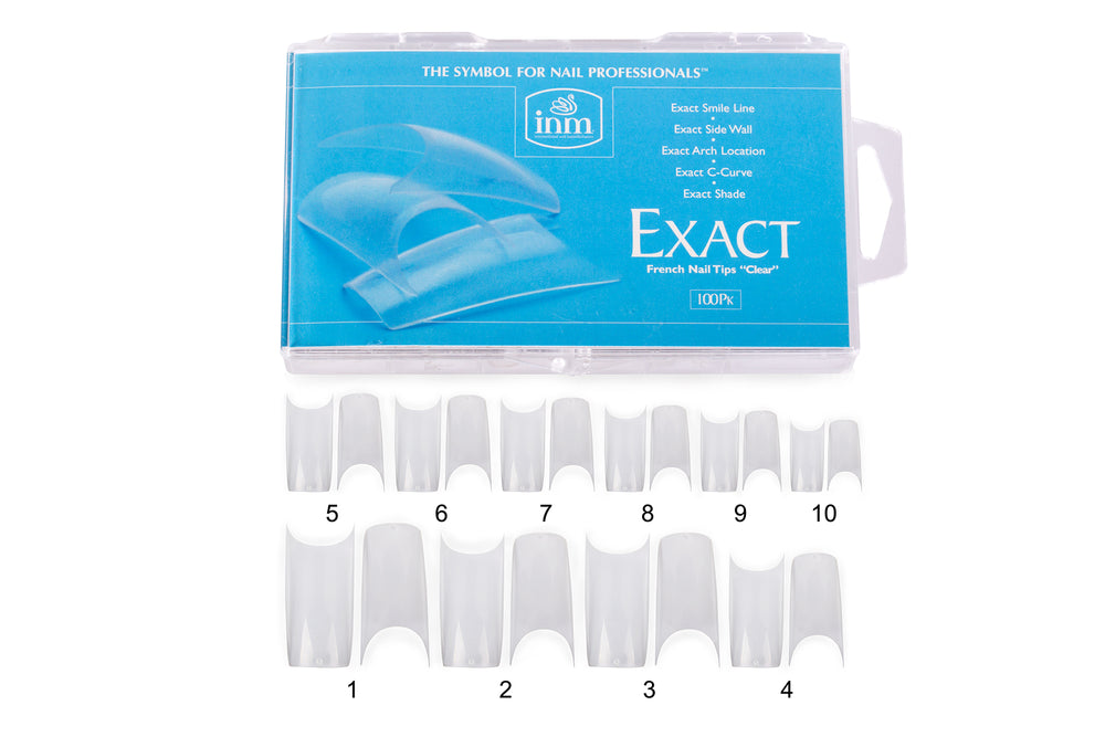 INM Exact French Tips Clear - IBD Boutique