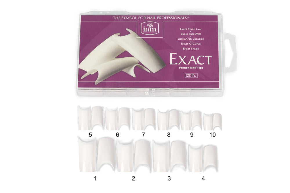 INM Exact French Nail Tips-White