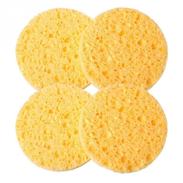 IBD Natural Wood Fire Face Wash Cleansing Sponge (25 pc)
