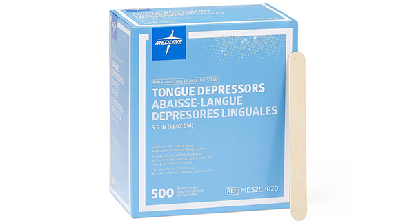 Medline Wooden Tongue Depressors