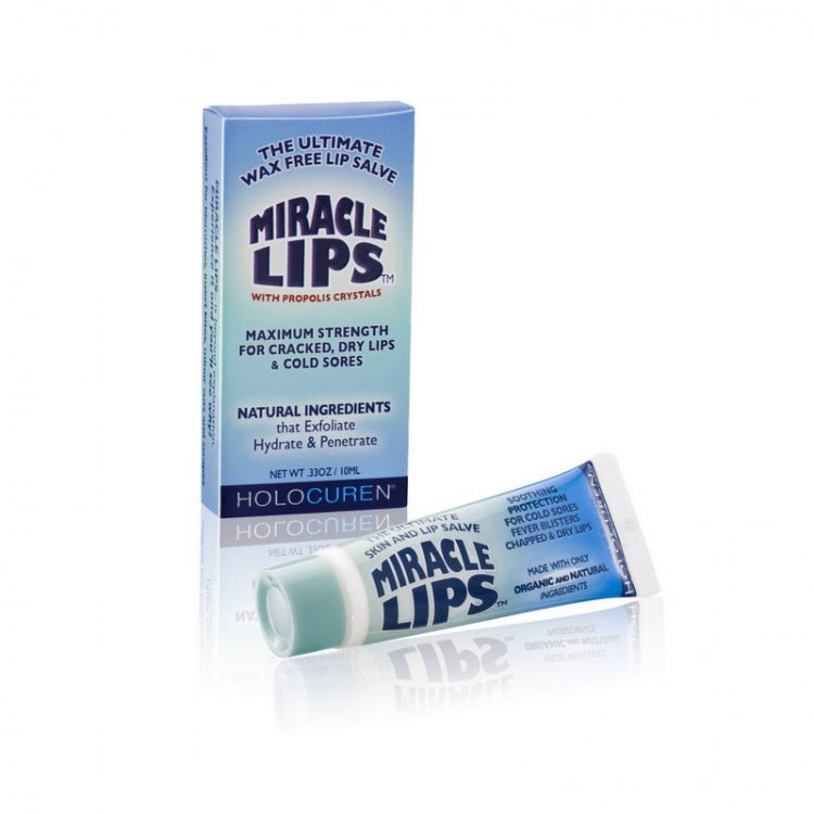 Miracle Lips Natural Lip Balm with Propolis and Tea Tree Oil for Dry Chapped and Cracked Lips 10ml