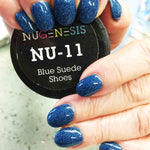 NuGenesis NU-11 Blue Suede Shoes (Metallic)