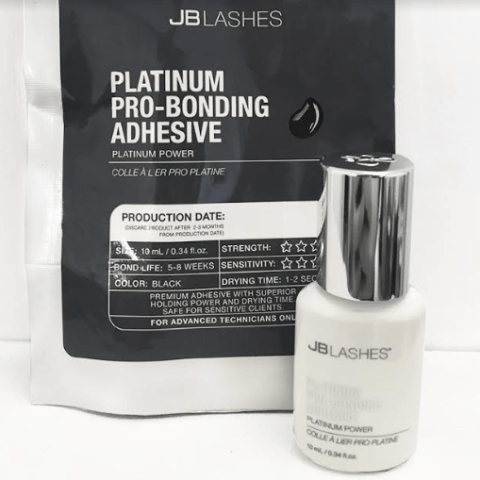 JB Lashes Platinum Pro-Bonding Adhesive 10ml (White Cap)