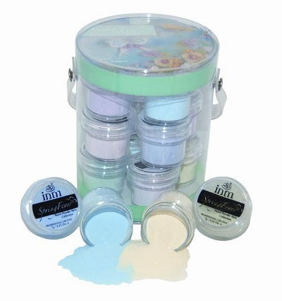 INM Acrylics  Acrylic Powder Spring Fever Colored Collection Kit (12 POTS X 7gms EACH)