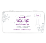 NSI TECH ALMOND CLEAR NAIL TIP
