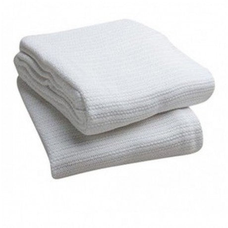 "IBD Thermal String Blankets 100% Cotton 66""x 90"" White"