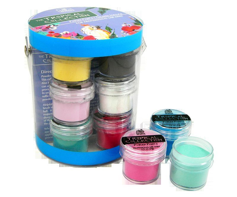 INM Acrylics Acrylic Powders Tropical Collection Kit (12 POTS X 7gms EACH)