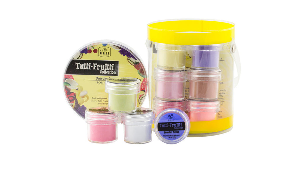 INM Acrylics Acrylic Powder  Tutti Frutti Collection Kit (12 POTS X 7gms EACH)