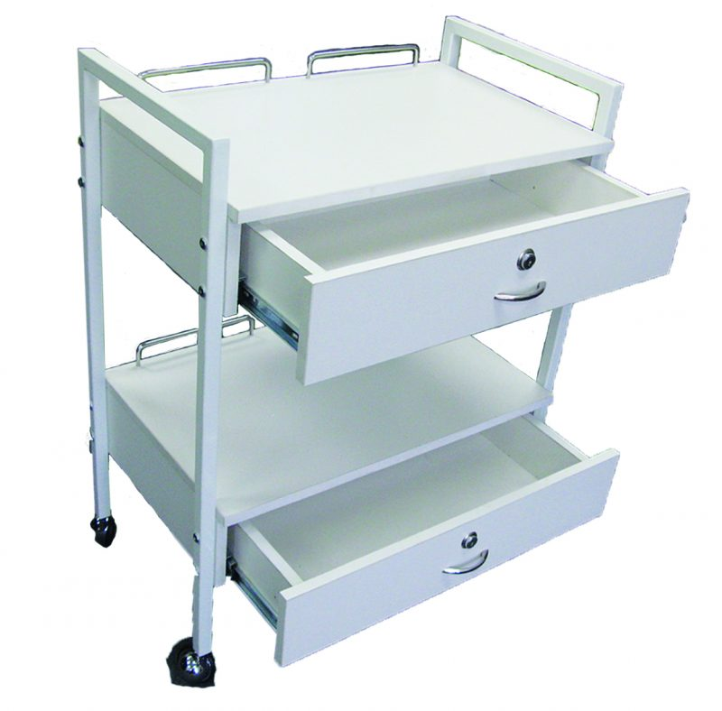 GD Trolley With Two Drawers - IBD Boutique