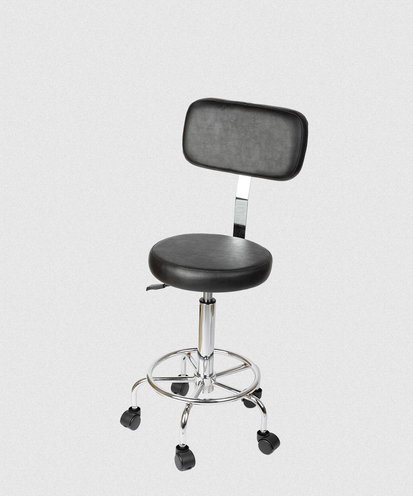 NP MANICURE STOOL WITH BACKREST