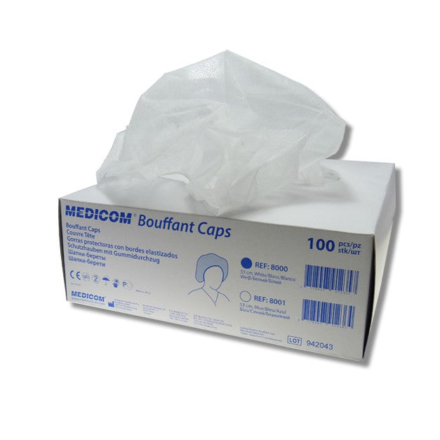 Medicom SafeBasics Bouffant Cap 100box