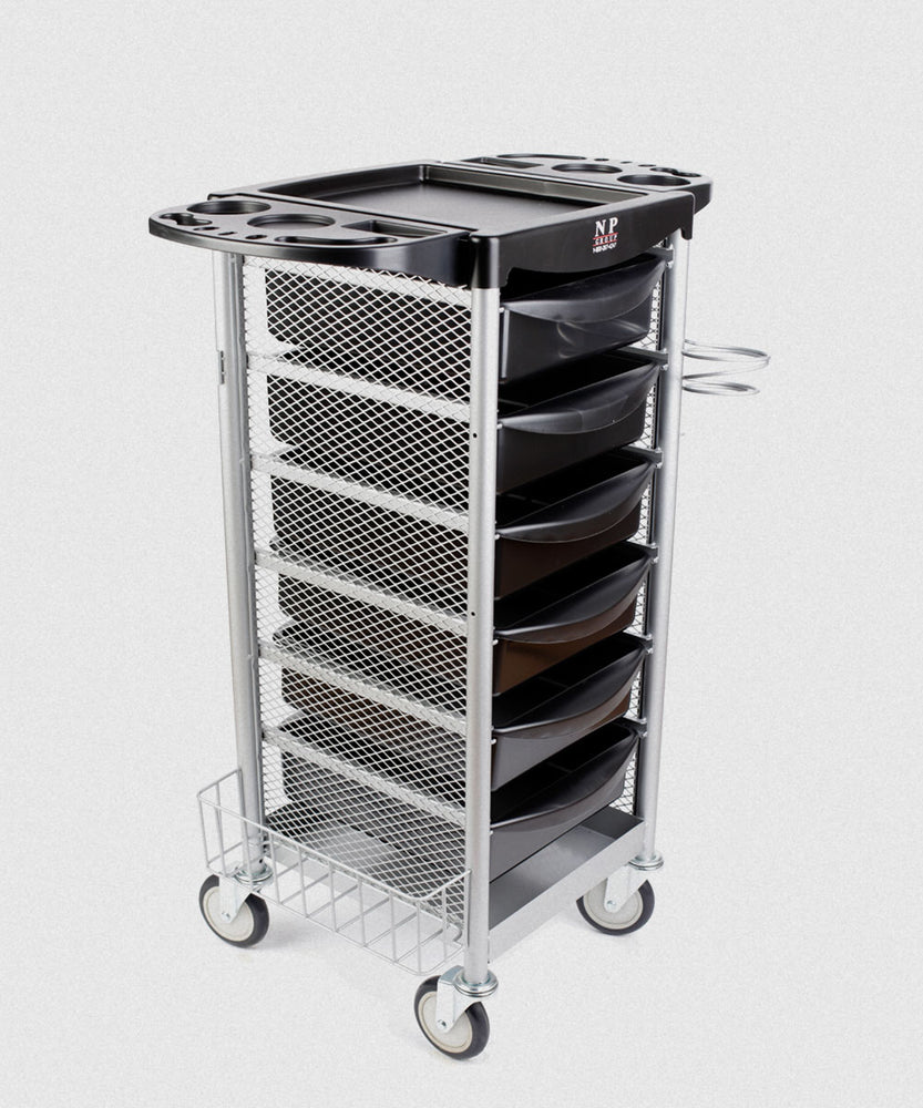 NP SALON TROLLEY WITH METAL SIDING