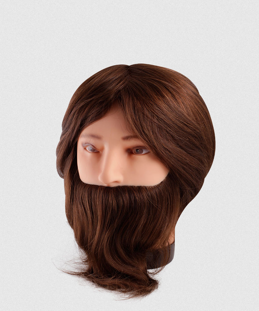 NP REMY HAIR BEARDED MALE MANNEQUIN 6-7""