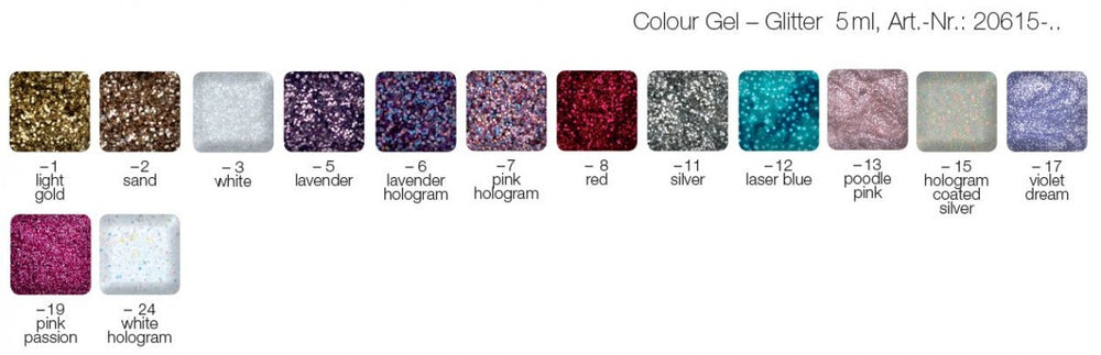 LCN Glitter Gel 5ml - IBD Boutique