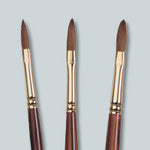 KOLINSKY SHORT HANDLE OVAL SABLE BRUSHES