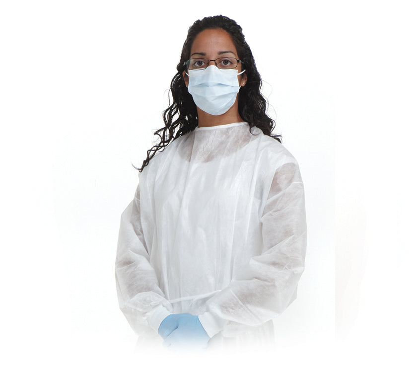 SafeBasic Fluid Impervious Gowns White-50/box
