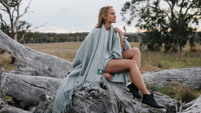 The world's first blanket made with recycled Nudie Jeans.