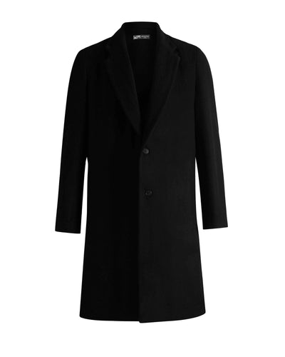 Waverley Mills 18 Micron;Other Black / Small Mens Wool 2 Button Overcoat