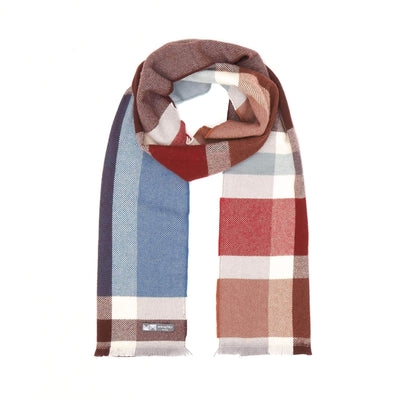 Waverley Mills 18 Micron;Scarf Bold Check Scarf Wine