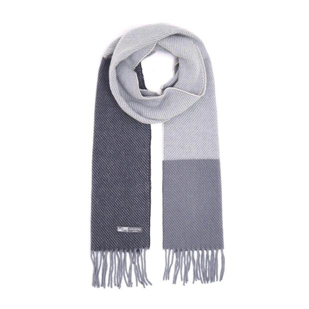 Waverley Mills 18 Micron;Scarf Colour Block Scarf Grey