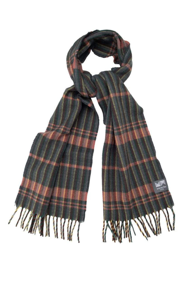 Waverley Mills 18 Micron;Scarf Superfine Scarf Grey Stripe