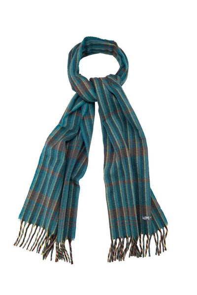 Waverley Mills 18 Micron;Scarf Superfine Wool Scarf Teal Stripe