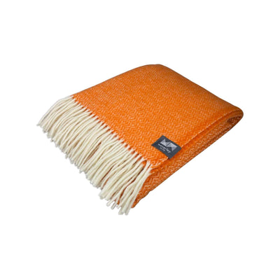 Waverley Mills 18 Micron;Throw Diamond Merino Throw - Orange