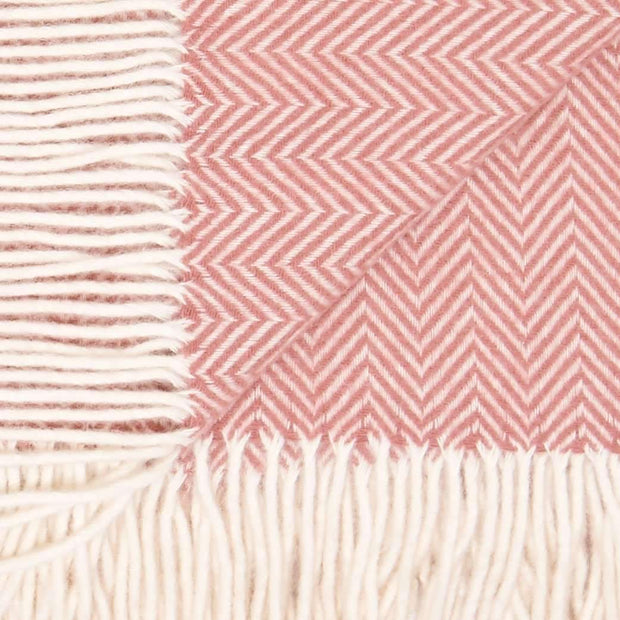 Waverley Mills 18 Micron;Throw Herringbone Dusty Rose superfine