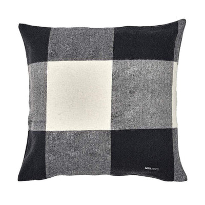 Waverley Mills 22 Micron;Other Supersoft Wool Cushion Charcoal Check Large