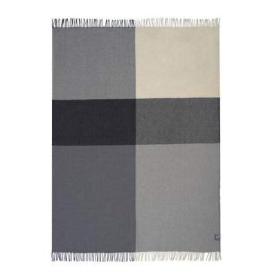 Waverley Mills 22 Micron;Throw Merino Wool Plaid Throw - Grey