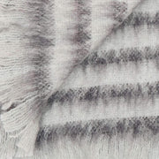 Waverley Mills Alpaca;Throw Alpaca Grey Stripe Throw