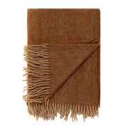 Waverley Mills Alpaca;Throw Alpaca Herringbone Throw Mahogany