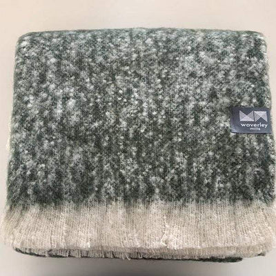 Waverley Mills Alpaca;Throw Alpaca Throw Green