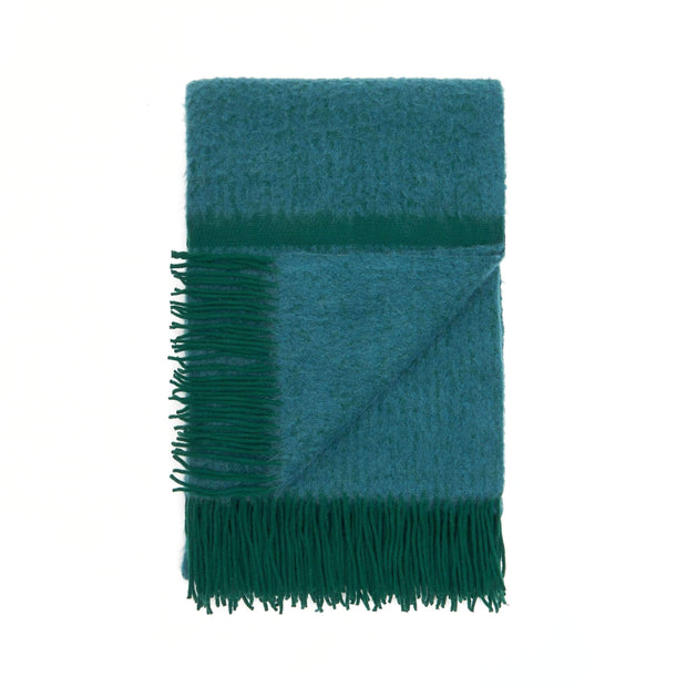 Waverley Mills Alpaca;Throw Contour Alpaca + Merino Throw - Green