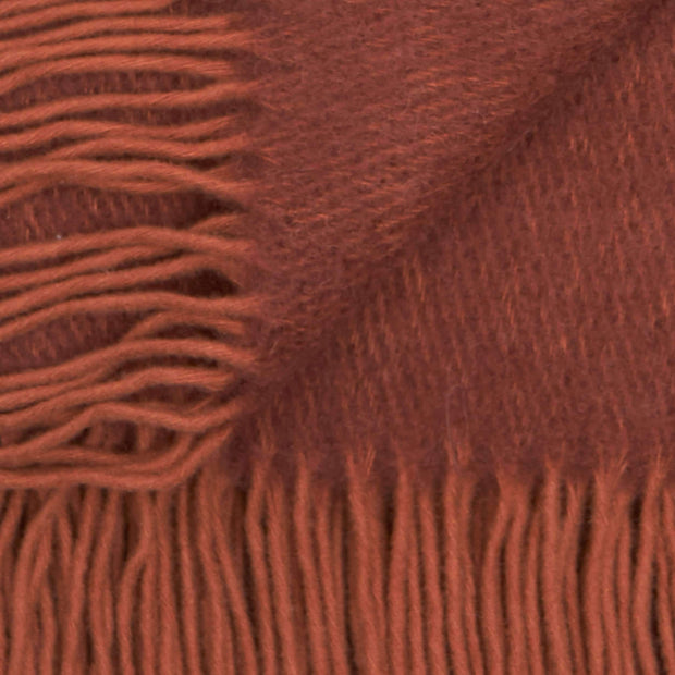 Waverley Mills Alpaca;Throw Contour Alpaca + Merino Throw - Wine