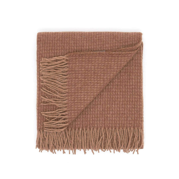 Waverley Mills Alpaca;Throw Waffle Alpaca Throw - Brown