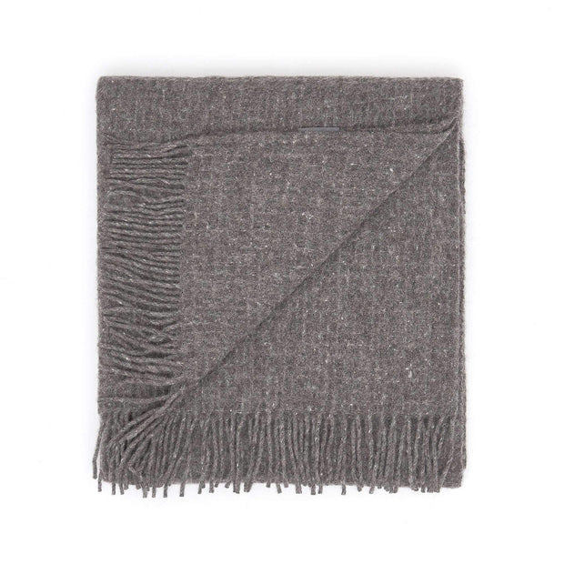 Waverley Mills Alpaca;Throw Waffle Alpaca Throw - Charcoal