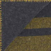 Waverley Mills Blanket Recycled Cabin Blanket Charcoal with Yellow Stripe King Single