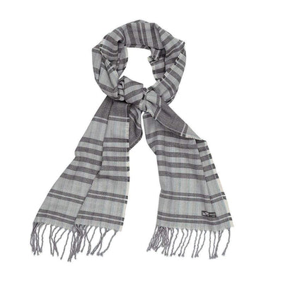 Waverley Mills Cotton/Wool;Scarf Cotton/Wool Stripe Scarf Aqua Wine