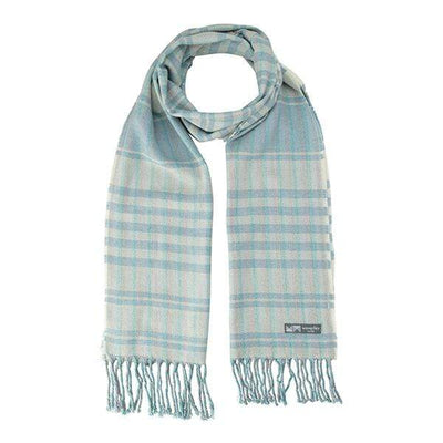 Waverley Mills Cotton/Wool;Scarf Cotton/Wool Stripe Scarf Blue