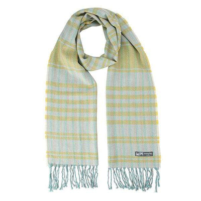 Waverley Mills Cotton/Wool;Scarf Cotton/Wool Stripe Scarf  Yellow