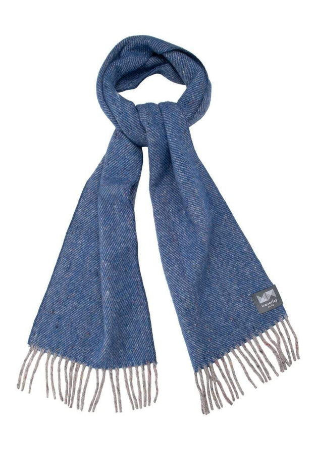 Waverley Mills Recycled;Scarf Recycled Scarf Diagonal Blue
