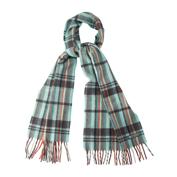 Waverley Mills Recycled;Scarf Recycled Striped Scarf Aqua/Charcoal