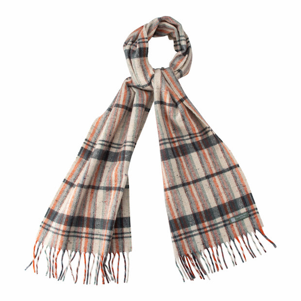 Waverley Mills Recycled;Scarf Recycled Striped Scarf Charcoal