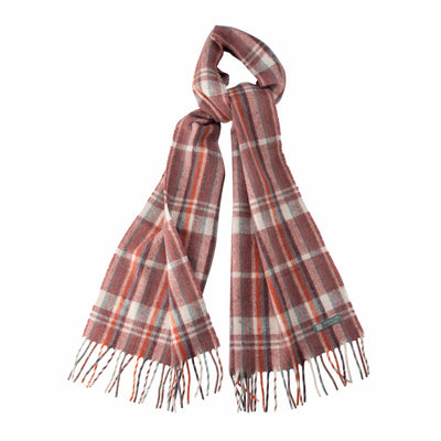Waverley Mills Recycled;Scarf Recycled Striped Scarf Dusty Rose/Natural