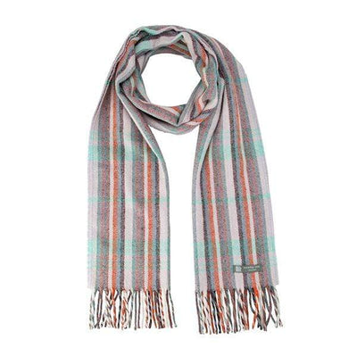 Waverley Mills Recycled;Scarf Recycled Striped Scarf Mauve/Aqua