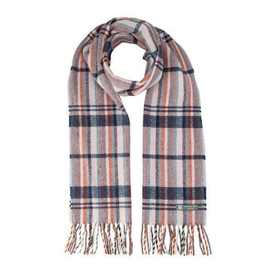 Waverley Mills Recycled;Scarf Recycled Striped Scarf Mauve/Navy