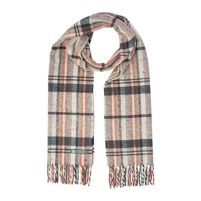 Waverley Mills Recycled;Scarf Recycled Striped Scarf Natural/Charcoal