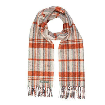 Waverley Mills Recycled;Scarf Recycled Striped Scarf Natural/Orange