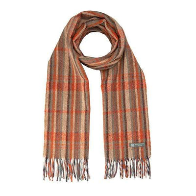 Waverley Mills Recycled;Scarf Recycled Striped Scarf Tan/Orange
